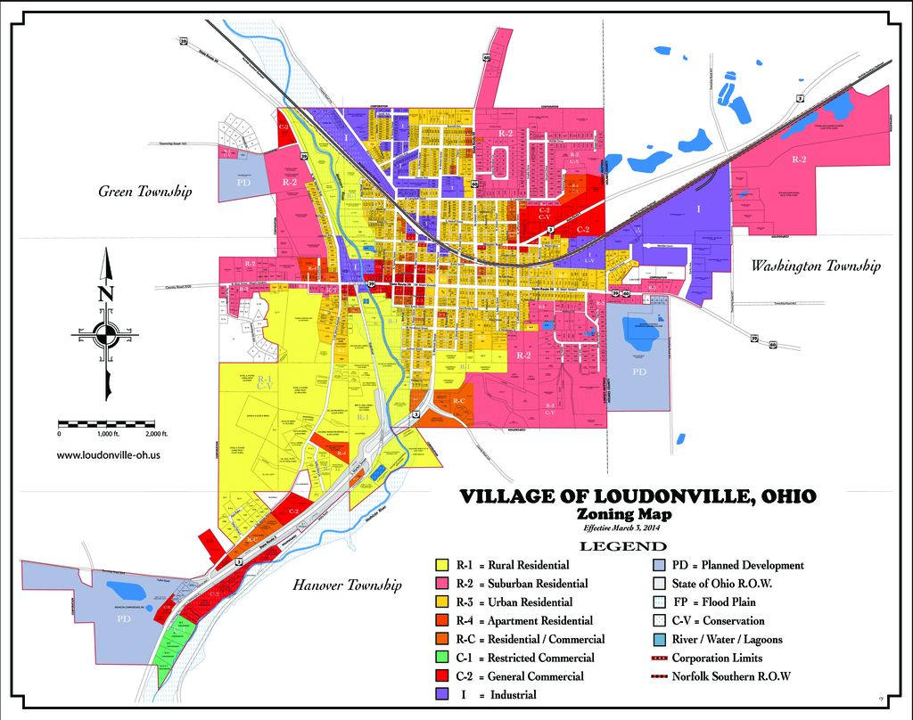 2014 Loudonville Zoning Map 3 3 2014 Village Of Loudonville