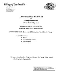 thumbnail of Agenda Council Safety Committee April 17, 2019