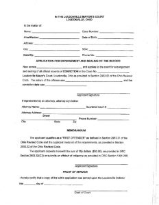 thumbnail of Expungement Application