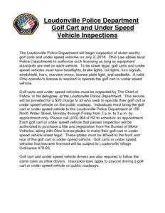 thumbnail of Golf Cart Inspection Cover Letter 2018