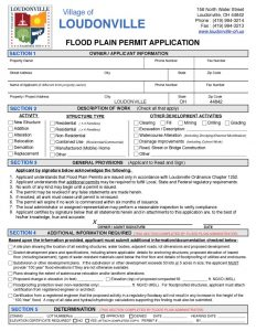 thumbnail of Loudonville Flood Plain Permit Application