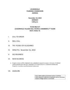 thumbnail of PLANNING COMMISSION AGENDA 11-18-19