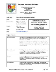 thumbnail of Request For Qualifications – Engineering – North Market Street Improvements